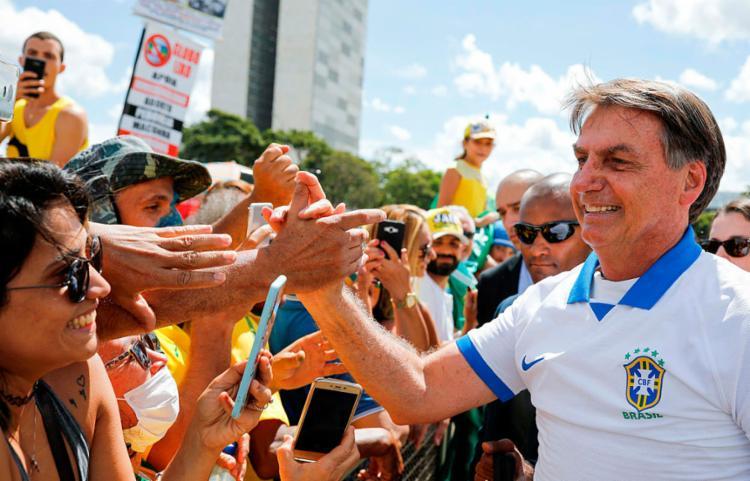 Em 7 de março, Bolsonaro discursou para cerca de 400 pessoas   Foto: Sergio Lima   AFP - Foto: Sergio Lima   AFP