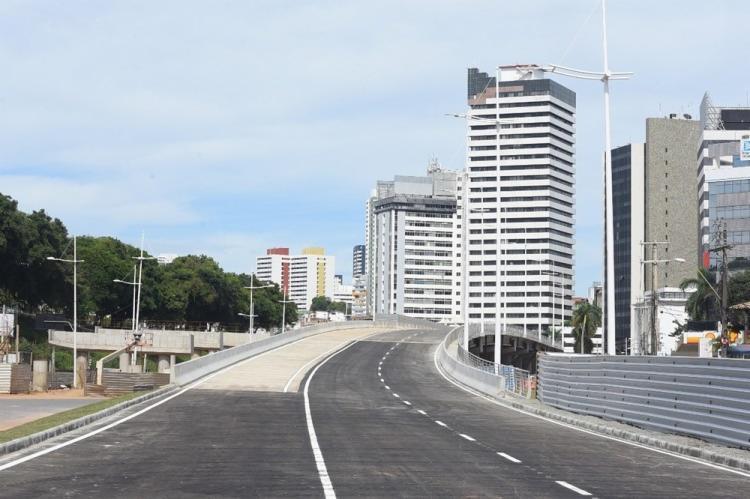 A estrutura, que tem 460 metros de extensão, conta com três faixas de trânsito | Foto: Divulgação | Prefeitura de Salvador - Foto: Divulgação | Prefeitura de Salvador