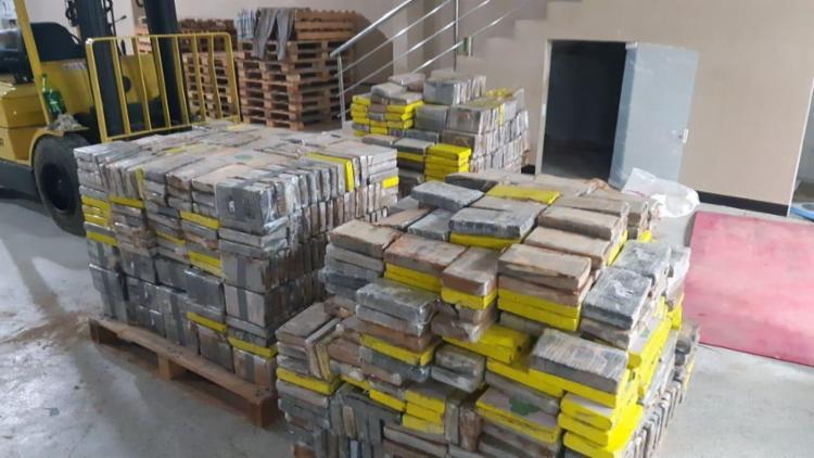 Droga estava armazenada em um depósito no bairro da Cascalheira | Foto: Divulgação | PF - Foto: Divulgação | PF