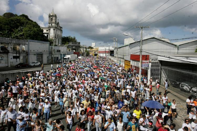 Arquidiocese também cancelou as três celebrações eucarísticas previstas para ocorrer no início da Caminhada | Foto: Mila Cordeiro | Ag. A TARDE - Foto: Mila Cordeiro | Ag. A TARDE