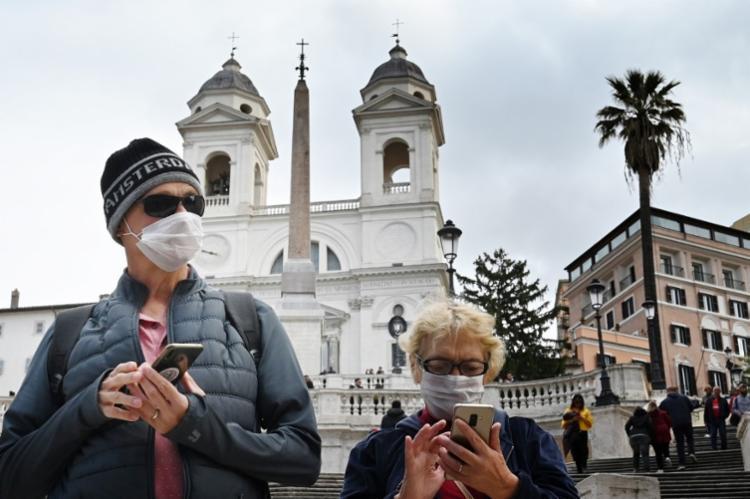 Desde sexta, foram registadas 1.146 novas contaminações e 35 mortes | Foto: Alberto Pizzoli | AFP - Foto: Alberto Pizzoli | AFP