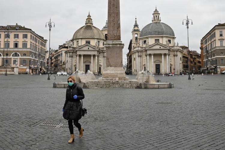 O país europeu passa por medidas de confinamento há uma semana | Foto: Andreas Solaro | AFP - Foto: Andreas Solaro | AFP