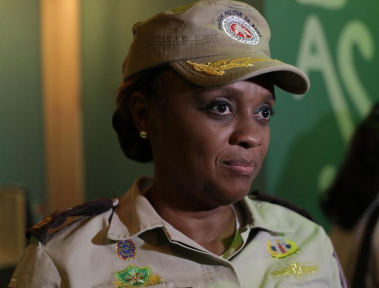 Major Denice é candidata do partido a prefeita de Salvador | Foto: Adilton Venegeroles | Ag. A TARDE | 19.2.2020 - Foto: Adilton Venegeroles | Ag. A TARDE | 19.2.2020