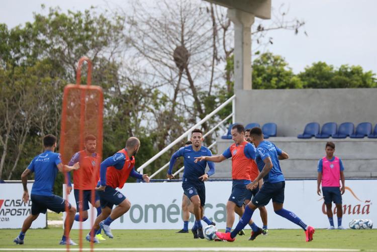 Jogadores foram liberados nesta terça-feira, 17   Foto: Felipe Oliveira   EC Bahia - Foto: Felipe Oliveira   EC Bahia