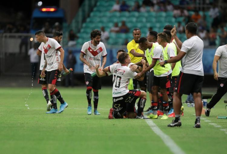 Rubro-Negro está na zona de classificação para a próxima fase da Copa do Nordeste | Foto: Uendel Galter | Ag. A TARDE - Foto: Uendel Galter | Ag. A TARDE