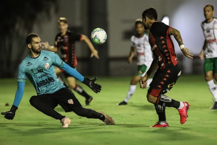 Léo Ceará foi o autor de um dos gols do triunfo Rubro-Negro | Foto: Uendel Galter | Ag. A TARDE - Foto: Uendel Galter | Ag. A TARDE