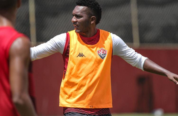 O atacante foi chamado por Geninho porque o treinador não conta com Léo Ceará, suspenso | Foto: Letícia Martins | ECVitória - Foto: Letícia Martins | ECVitória