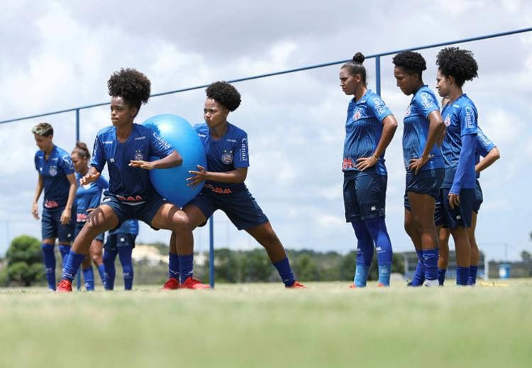 Treino do time do Bahia: a estrutura agrada às jogadoras | Foto: Uendel Galter | Ag. A TARDE - Foto: Uendel Galter | Ag. A TARDE