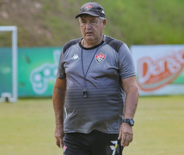 O técnico do Rubro-Negro usou a última partida para testar Jean | Foto: Letícia Martins | ECVitória - Foto: Letícia Martins | ECVitória