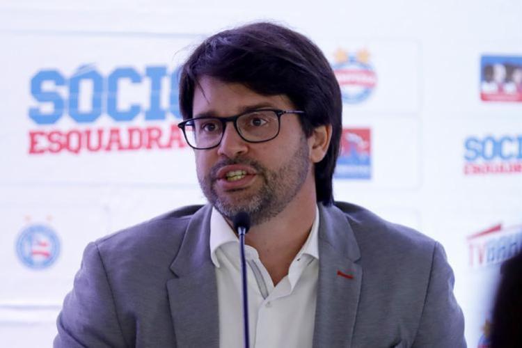 Segundo o dirigente, a inadimplência está acima da média | Foto: Felipe Oliveira | EC Bahia - Foto: Felipe Oliveira | EC Bahia