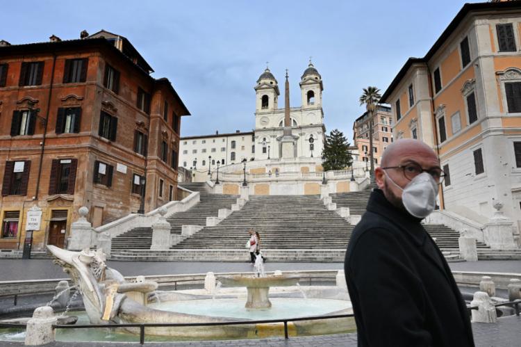 O coronavírus é motivo de preocupação para a Igreja italiana e também para o Vaticano | Foto: Alberto Pizzoli | AFP - Foto: Alberto Pizzoli | AFP