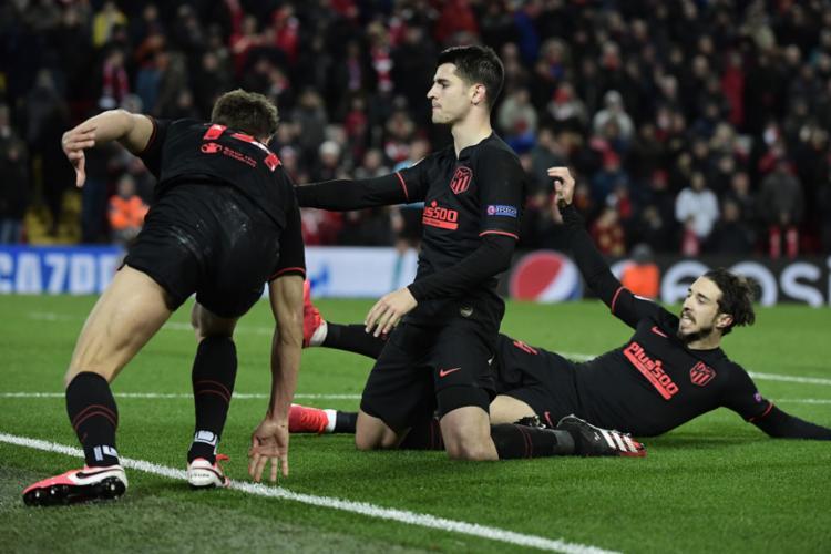 Morata marcou o gol que garantiu a classificação da equipe espanhola   Foto: Javier Soriano   AFP - Foto: Javier Soriano   AFP