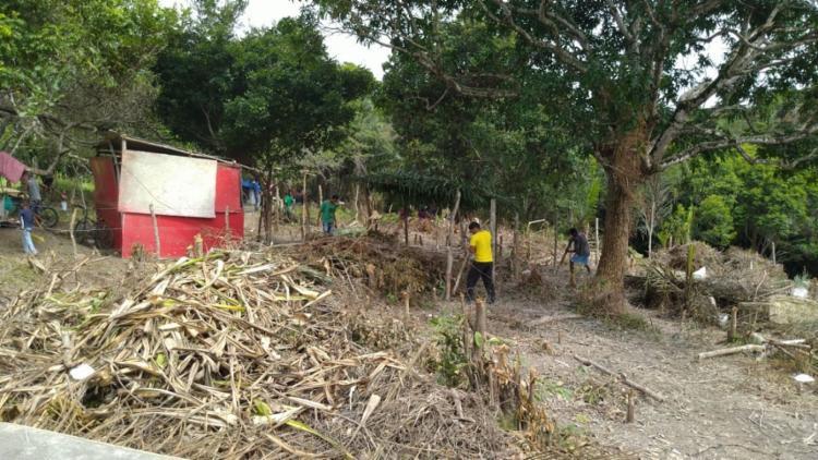 Invasão no loteamento Caji, na Região Metropolitana   Foto: Reprodução - Foto: Reprodução