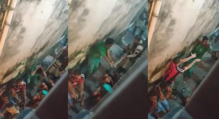 Cenas foram registradas na Rua Tupy Caldas | Foto: Reprodução | Youtube - Foto: Reprodução | Youtube