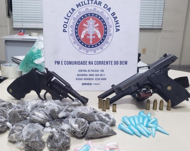 Drogas e armas foram apreendidas na ação | Foto: Divulgação | SSP - Foto: Divulgação | SSP
