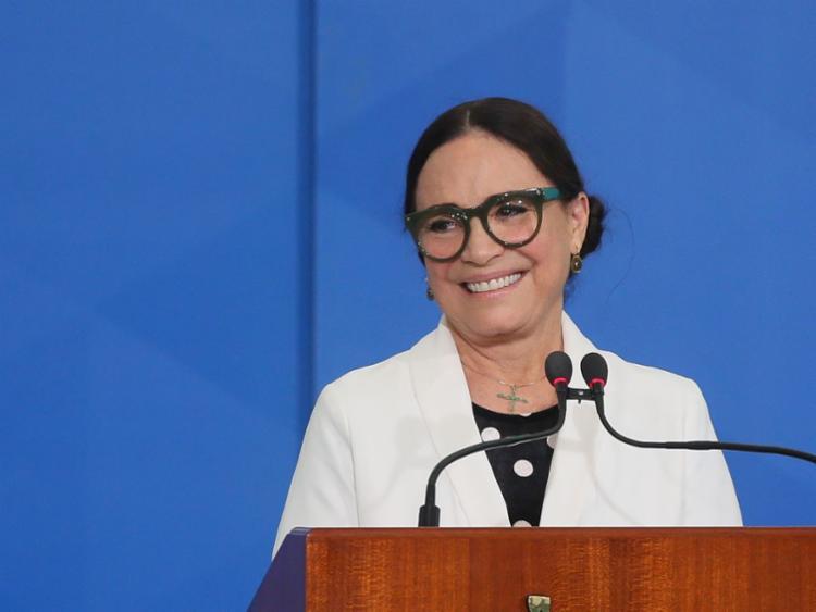 Durante a ocasião, ela fez um discurso e brincou com o presidente Jair Bolsonaro | Foto: Antonio Cruz | Agência Brasil - Foto: Antonio Cruz | Agência Brasil