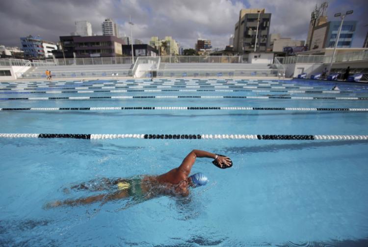 Arena Aquática, na Pituba, possui projeto de revelar um novo campeão para a Bahia | Foto: Raul Spinassé | Ag. A TARDE
