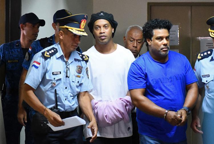 O ex-jogador cumpre prisão preventiva em Assunção   Foto: Norberto Duarte   AFP - Foto: Norberto Duarte   AFP