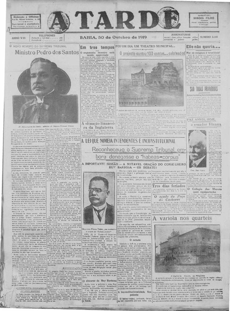 Edição de 30 de outubro de 1919