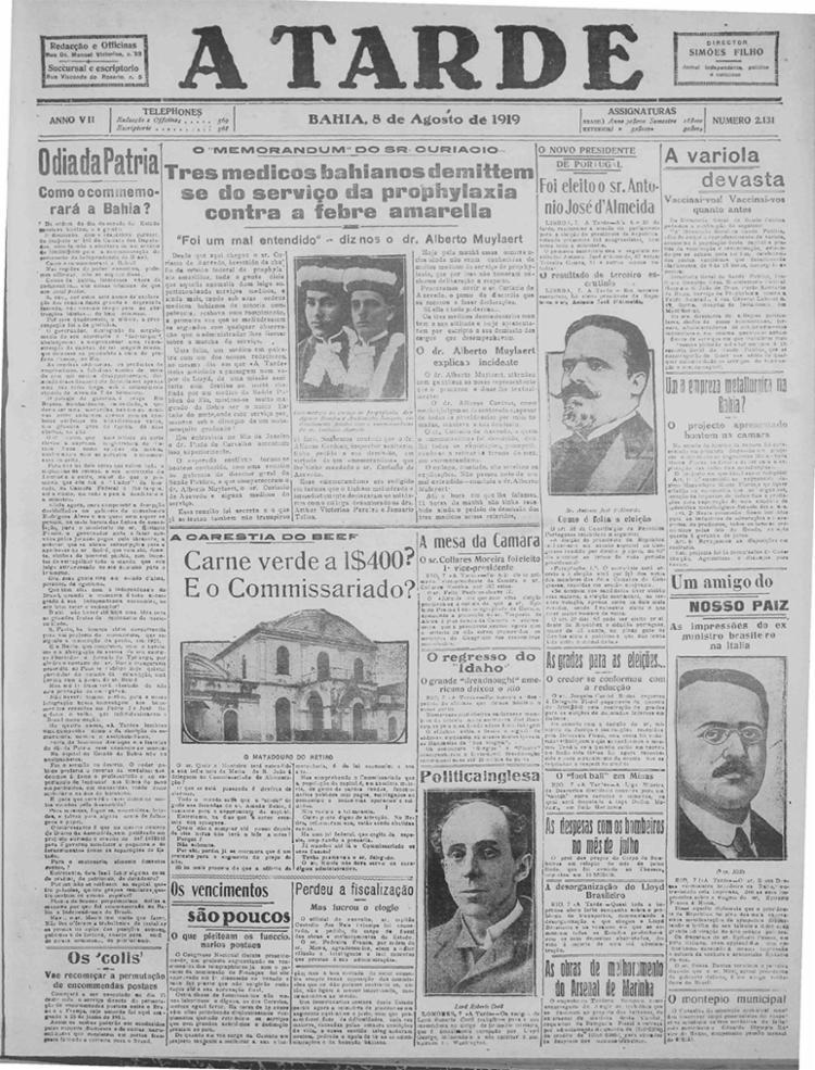 Edição de 08 de agosto de 1919