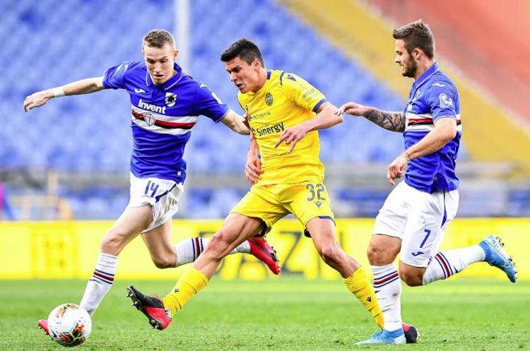 Todos os jogadores da equipe estão em auto-isolamento voluntário em casa | Foto: Reprodução | Twitter | Sampdoria - Foto: Reprodução | Twitter | Sampdoria