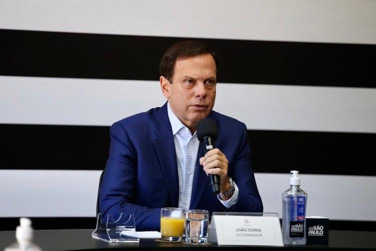 """Doria cobrou """"grandeza"""" do presidente Jair Bolsonaro na discussão sobre a Coronavac - Foto: Foto: Governo do Estado de São Paulo"""