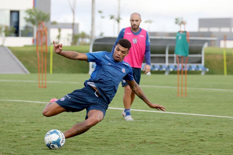 Jogadores terão sequência forte de treinos | Foto: Felipe Oliveira | EC Bahia - Foto: Felipe Oliveira | EC Bahia