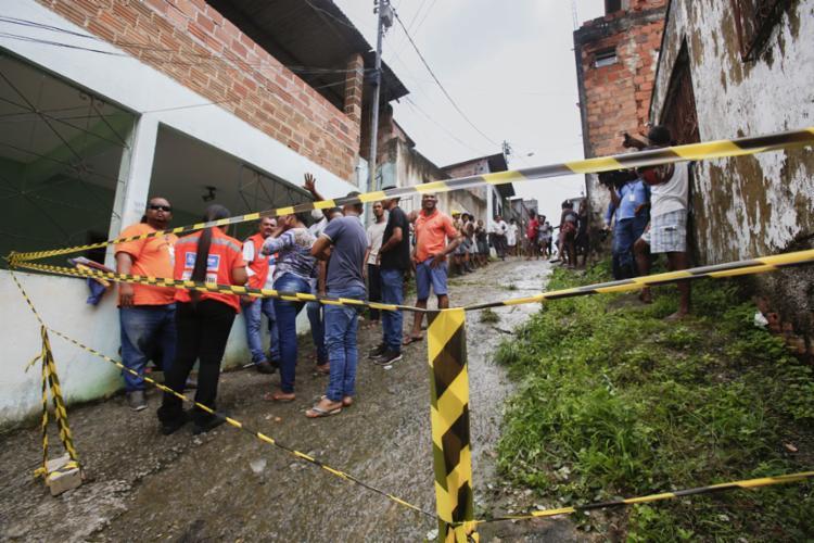 O deslizamento deixou nove pessoas feridas | Foto: Laryssa Machado | Ag. A TARDE - Foto: Laryssa Machado | Ag. A TARDE
