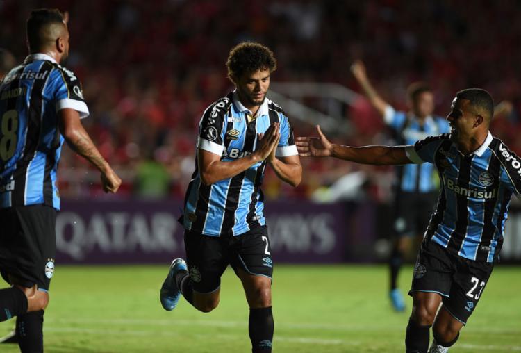 Víctor Ferraz marcou o seu primeiro gol com a camisa Tricolor | Foto: Luis Robayo | AFP - Foto: Luis Robayo | AFP