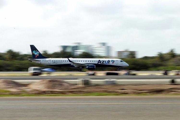 A companhia aérea Azul anunciou a suspensão de voos para três destinos baianos: Valença, Feira de Santana e Paulo Afonso   Foto: Paula Fróes   GOVBA - Foto: Paula Fróes   GovBA