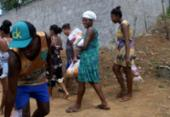 Entrega de cestas básicas no bairro de Fazenda Grande IV | Foto: