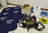 Quadrilha é presa com 700 munições e uniformes falsos da Polícia | Foto: Divulgação