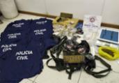 Quadrilha é presa com munições e uniformes da Polícia   Divulgação