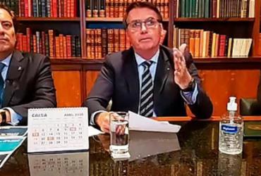 Bolsonaro espera retomada de atividades no país em até quatro meses   Reprodução