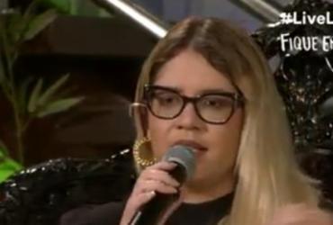Cantando sucessos, Marília Mendonça bate mais de 3 mi de visualizações em live | Reprodução | YouTube