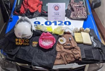 Mulher é presa com granadas e munições em Pernambués | Divulgação | SSP