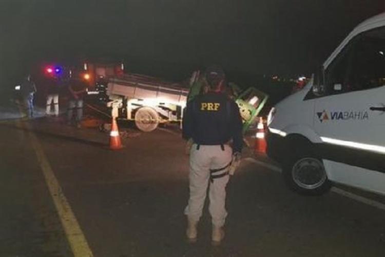 Acidente aconteceu no Anel Rodoviário Jadiel Vieira Matos | Foto: Reprodução | Blog do Anderson - Foto: Reprodução | Blog do Anderson