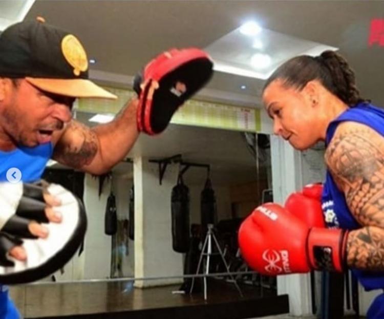 Raimundo Ferreira e sua filha, a lutadora olímpica Bia Ferreira | Foto: Reprodução | Instagram
