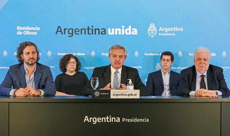 Argentina se preocupa com os impactos econômicos do coronavírus | Foto: Esteban Collazo | Presidência da Argentina | AFP - Foto: Esteban Collazo | Presidência da Argentina | AFP