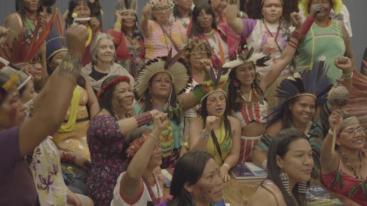 Ministra Carmen Lucia, do STF, recebe mulheres indígenas - Foto: Jamille Fortunato/divulgação