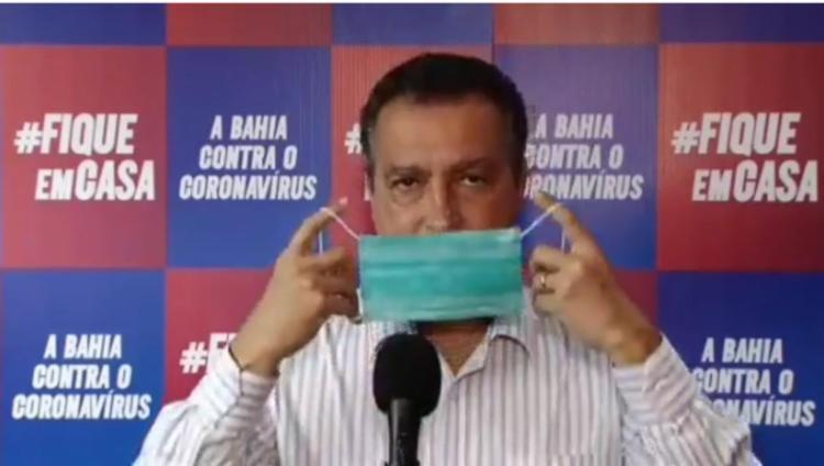 O governador da Bahia pediu para que empresários ajudem na produção das máscaras | Foto: Reprodução | Instagram - Foto: Reprodução | Instagram