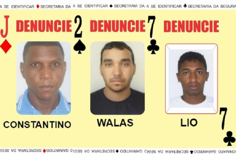 Suspeitos são procurados por latrocínio, homicídio e tráfico de drogas | Foto: Divulgação | SSP - Foto: Divulgação | SSP