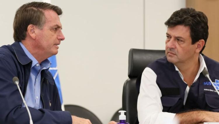 O ministro e o presidente divergem sobre as ações necessárias pra impedir a disseminação do coronavírus no Brasil   Foto: Isac Nóbrega   PR - Foto: Isac Nóbrega   PR