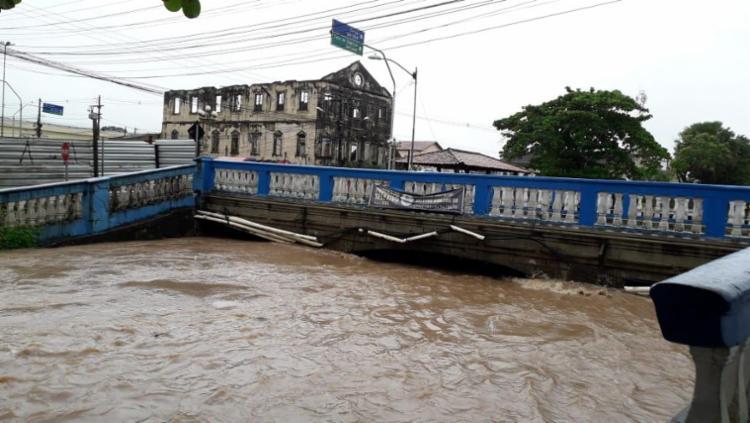 Nível do Rio Subaé foi elevado pelas chuvas   Foto: Cidadão Repórter   Via WhatsApp - Foto: Cidadão Repórter   Via WhatsApp