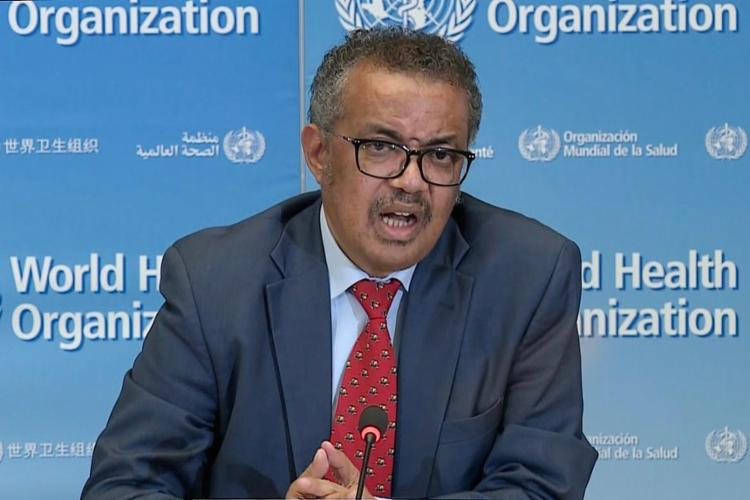 O diretor-geral da Organização Mundial da Saúde Tedros Adhanom| Foto: AFP - Foto: AFP