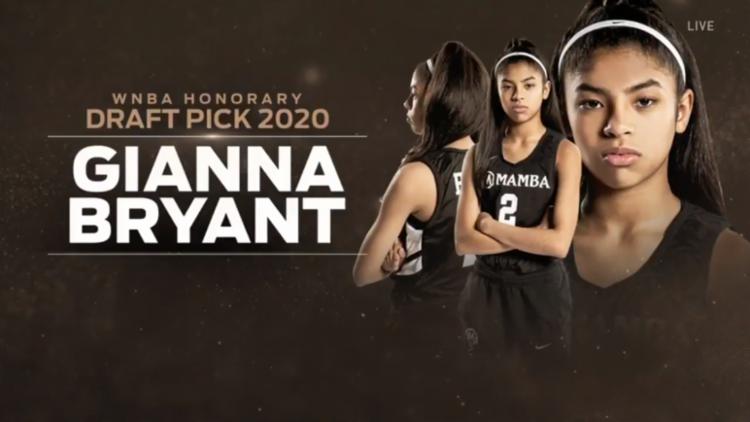 Gianna Bryant jogava na Mamba Academy, equipe criada por Kobe | Foto: Reprodução | WNBA