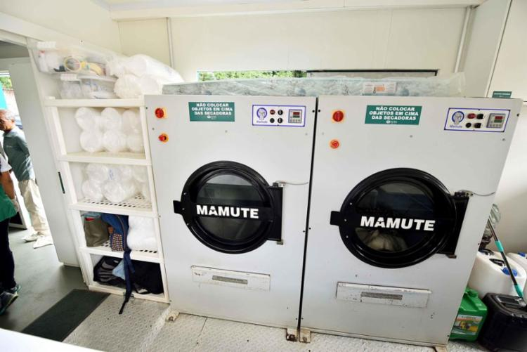 A lavanderia industrial tem capacidade para lavar e secar em torno de 280 kg de roupa | Foto: Valter Pontes | Secom - Foto: Valter Pontes | Secom
