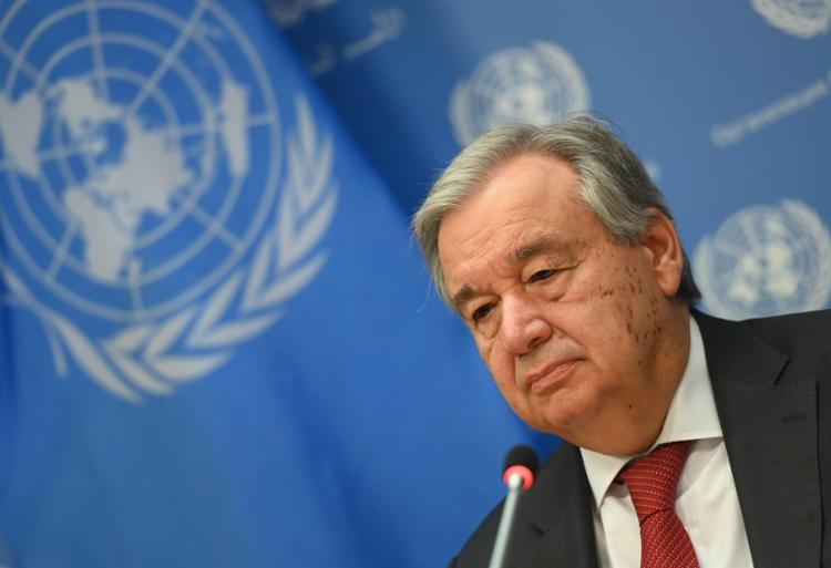 O chefe da ONU, Angelo Guterres | Foto: Angela Weiss | AFP - Foto: Angela Weiss | AFP