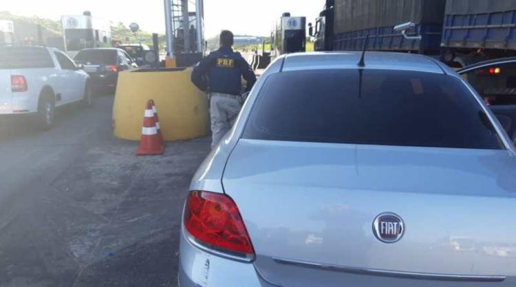 Suspeitos pretendiam levar o veículo para Feira de Santana   Foto: Divulgação   PRF - Foto: Divulgação   PRF