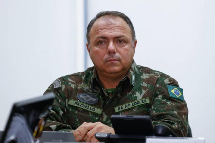 O general Eduardo Pazuello assumiu interinamente o Ministério da Saúde - Foto: Pedro Ladeira   Folhapress